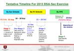 tentative timeline for 2013 dsa sec exercise