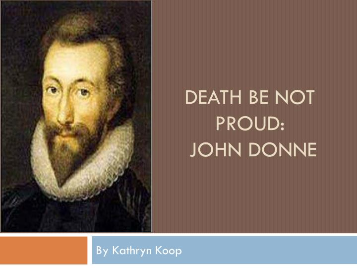 death be not proud john donne n.