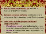 characteristics of metaphysical poetry