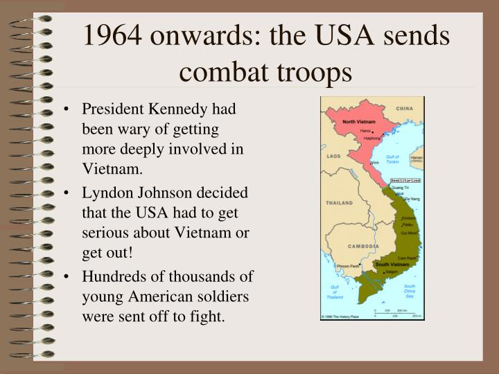 1964 onwards: the USA sends combat troops