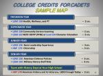 college credits for cadets sample map