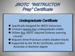 jrotc instructor prep certificate