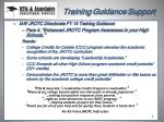training guidance support