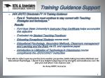 training guidance support1