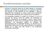 transformaciones sociales