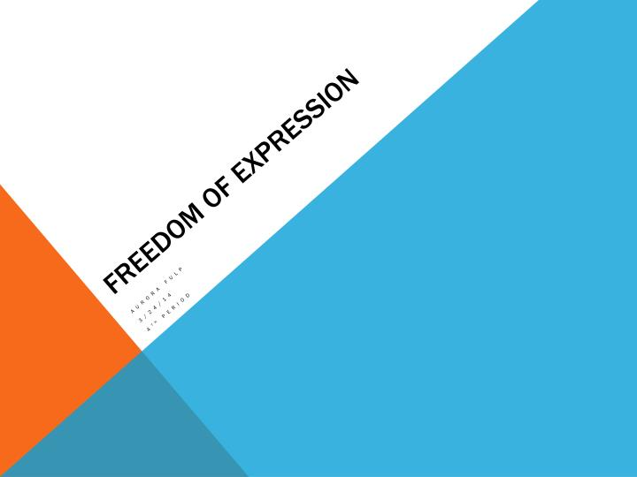 freedom of expression n.