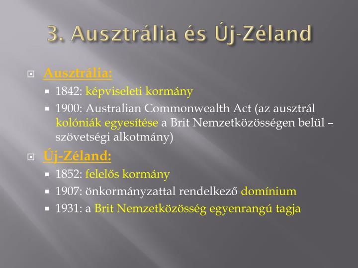 3. Ausztrália és Új-Zéland