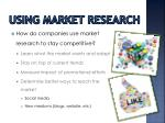 using market research