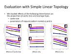 evaluation with simple linear topology1