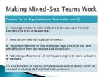 making mixed sex teams work1