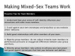 making mixed sex teams work2