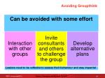 avoiding groupthink