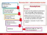 b ureaucratic administrative model