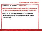 resistance as refusal