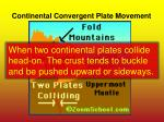 continental convergent plate movement