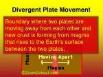 divergent plate movement