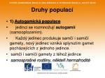 druhy populac