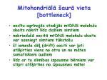 mitohondri l aur vieta bottleneck