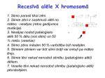 reces v al le x hromosom