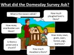 what did the domesday survey ask