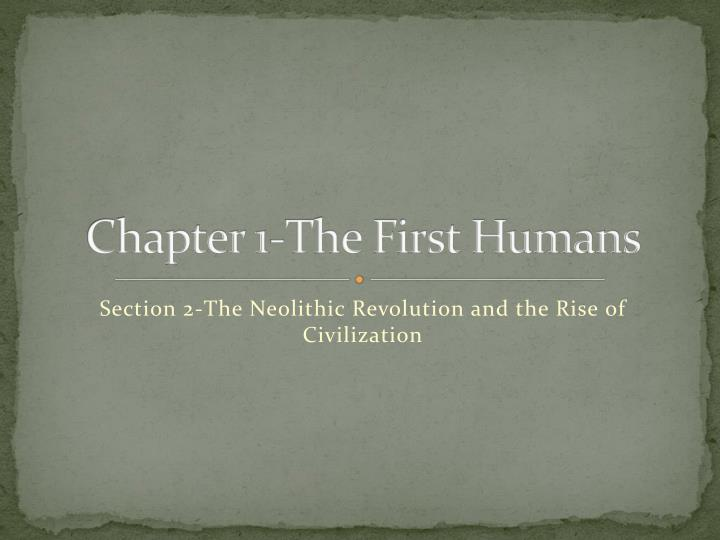 chapter 1 the first humans n.
