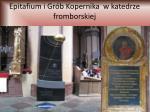 epitafium i gr b kopernika w katedrze fromborskiej