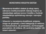 monetarno kreditni sistem