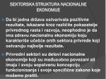 sektorska struktura nacionalne ekonomije