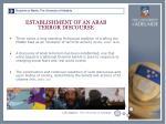 establishment of an arab terror discourse