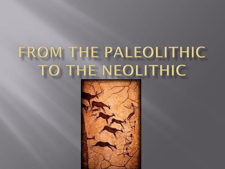 from the paleolithic to the neolithic n.