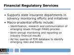 financial regulatory services