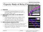 capacity study of relay communication