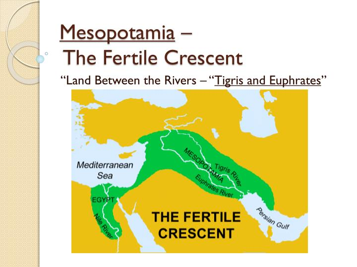 mesopotamia the fertile crescent n.