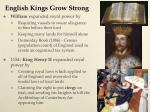english kings grow strong