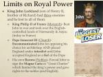 limits on royal power