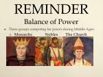reminder balance of power