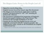 the magna carta power to the people sort of
