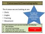 camerawork cinematography