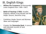 iii english kings