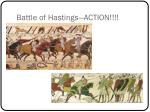 battle of hastings action