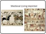 medieval living depicted