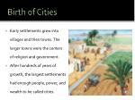 birth of cities