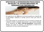efectos de la intervenci n psicol gica en dolor y el estado emocional de personas con fibromialgia