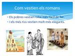 com vestien els romans