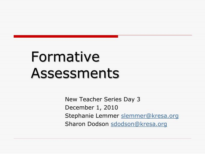 formative assessments n.