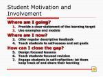 student motivation and involvement