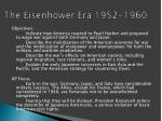 the eisenhower era 1952 1960