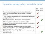 hyderabad parking policy behind the times