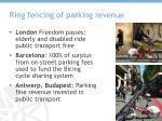 ring fencing of parking revenue
