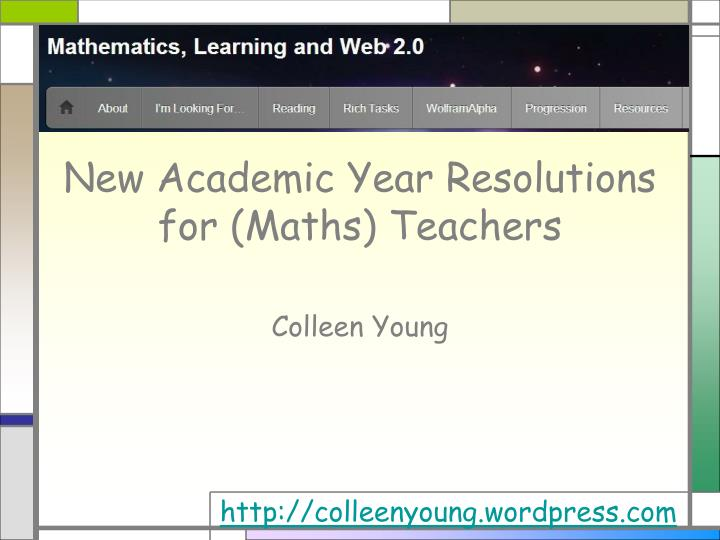 new academic year resolutions for maths teachers n.